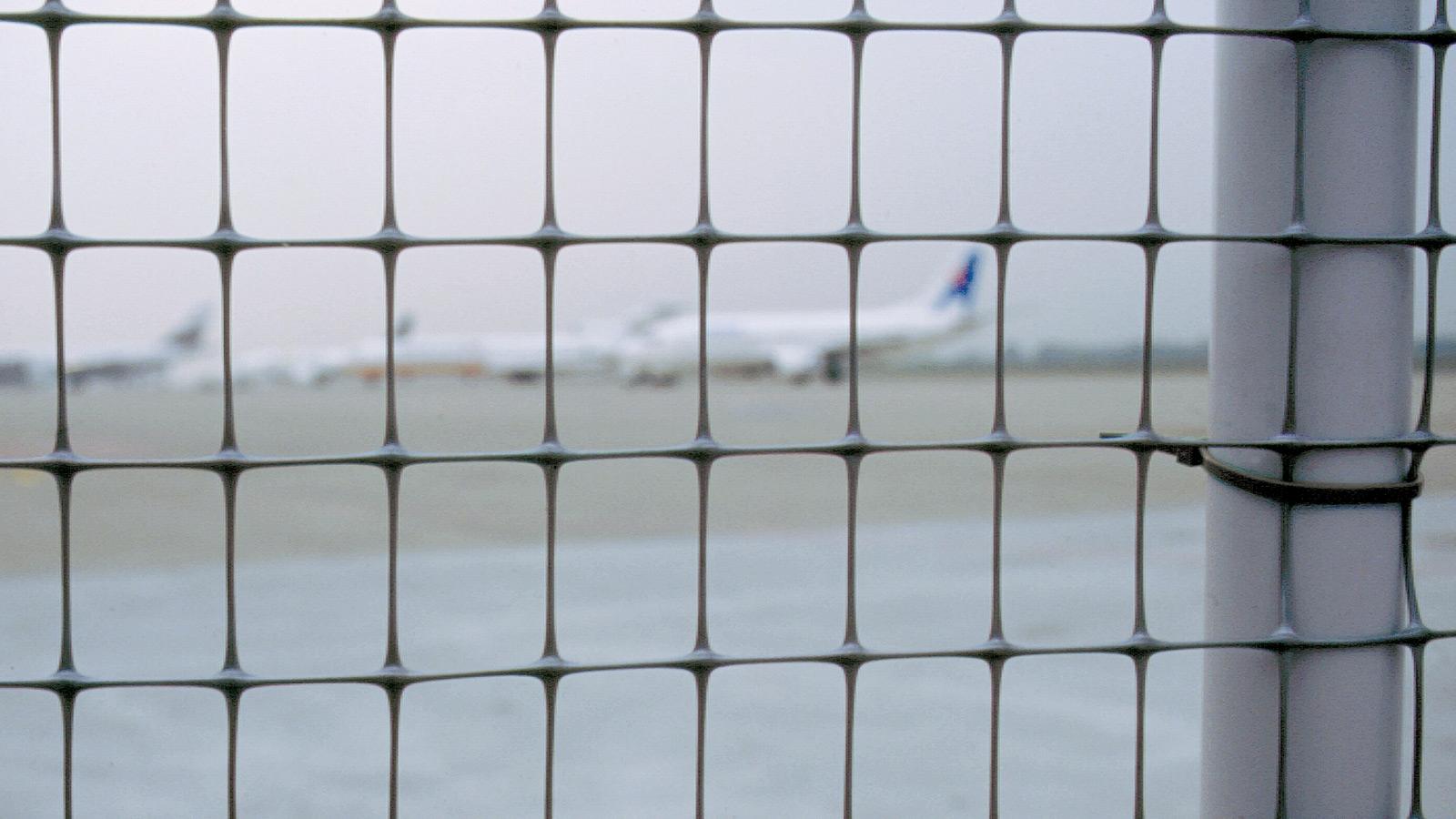Plastic fencing nets
