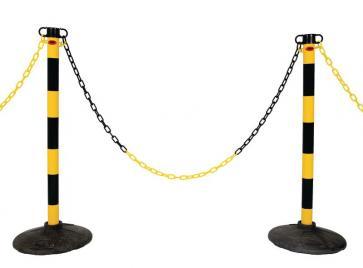 Post & Chain Barrier Kit -Light-, 6 plastic stanchions incl. 25m chain