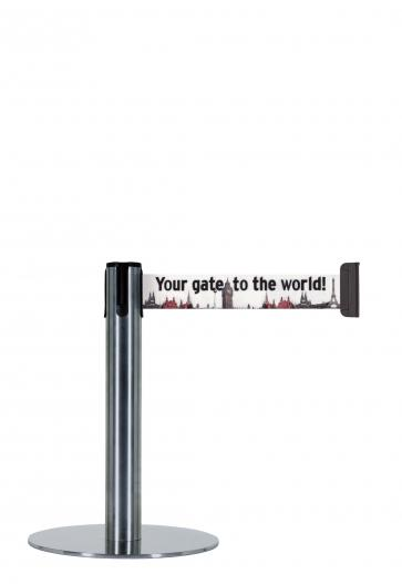 Beltrac Imprint Expo - Barrier post with customized print (2,3m)