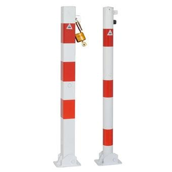 Collapsible bollard, prepared for padlocks (Ø60-70mm)