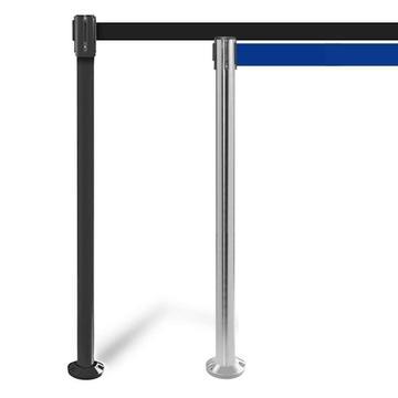 FlexiBarrier Belt Stanchion -Pro Fixed- (3.4m or 4.9m belt)