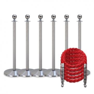 Queue package -Silver- 6 posts / 5 ropes