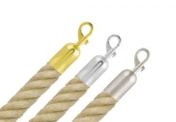 Barrier Rope -Hemp- with snap ends (Ø25 or 35mm)