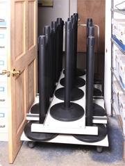 18 Post Vertical Storage Cart