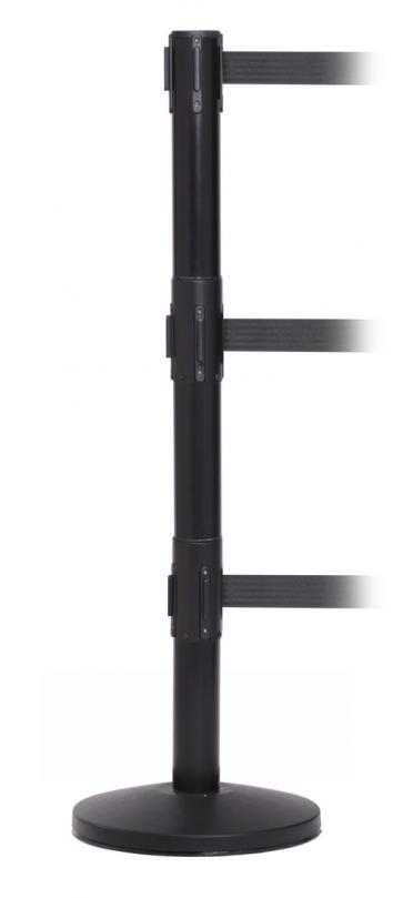 FlexiBarrier Belt Stanchion -Pro Triple- (3x3.4m belt)
