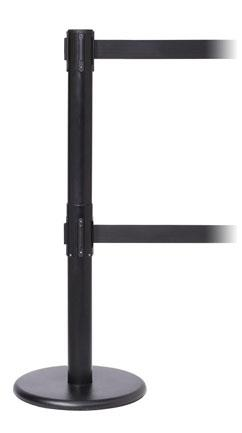 FlexiBarrier Belt Stanchion -Pro Twin- (2x3.4m belt)