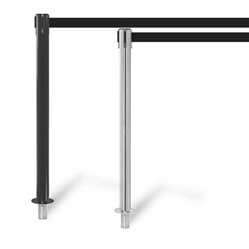 FlexiBarrier Belt Stanchion -Pro Removable- (3.4 or 4.9m belt)