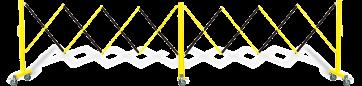 FlexiBarrier -Expanding Gate - on wheels (4.9 m)