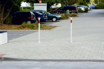 Chain bollard -Standard- for bolting down (Ø42-76mm)