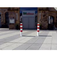 Removable safety bollard with ground socket, without lock (Ø152-193mm)