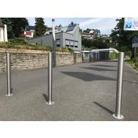 Barrier Post of Stainless Steel Ø 60 mm-102mm, Removable with Euro Cylinder Lock
