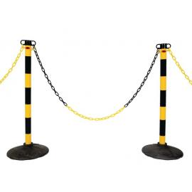 Post & Chain Barrier Kit -Light-, 6 plastic stanchions incl. 25m chain