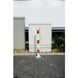 Collapsible bollard with triangle lock (Ø60-70mm)