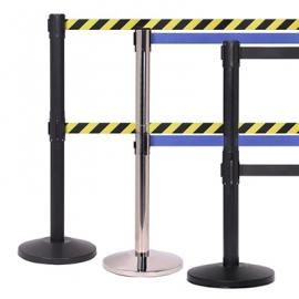 FlexiBarrier Belt Stanchion -Basic Twin- (2 x 3.4m belt)