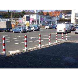 Removable bollard with ground socket and triangle lock (Ø60-108mm)