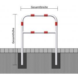 Hoops of Steel Tube Ø 60 mm, with Crossbar