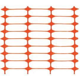 Orange Plastic Safety Mesh Fence - PREMIUM- (50m roll)
