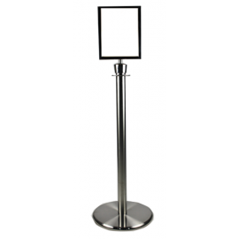 Sign Holder for Flexibarrier Post & Rope Stanchions