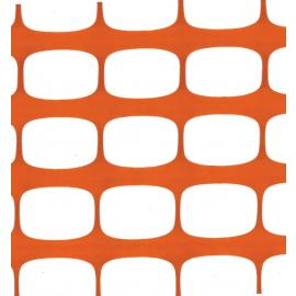 Orange Plastic Safety Mesh Fence - ECONOMY- (50m roll)