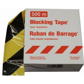 Hazard & Warning Tape -Premium- - 500m unbreakable plastic tape in dispenser