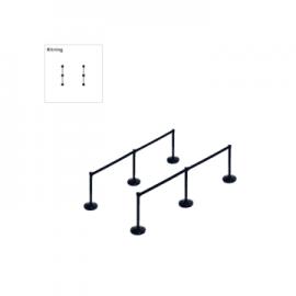 Stanchion package Basic (6x3m belt)