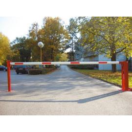 Manual Access Barrier with pneumatic spring and fixed pole support