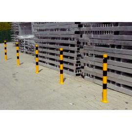 Barrier posts of Steel tube Ø 60 and 76 mm- Casting in Concrete