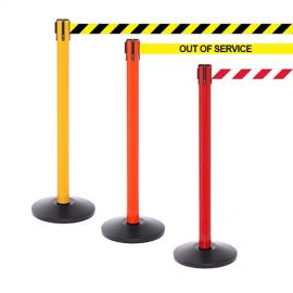 FlexiBarrier Belt Stanchion -SafetyPro 250- (3.4m belt)