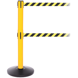FlexiBarrier Belt Stanchion --SafetyPlus Double 3.4m-- (2x3.4m belt)