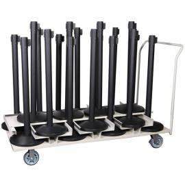 Barrier package-Event- 18pcs posts + transport trolley