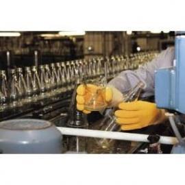 KCL's Grip-Tex® 447. Lång, hel-doppad arbets-handske av naturgummi, skyddar mot skarpa/vassa föremål.