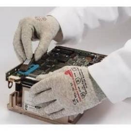 KCL's Camapur® Comfort Antistatic 623. Anti-statisk monterings-handske av polyamid, sydd med koppar-tråd.
