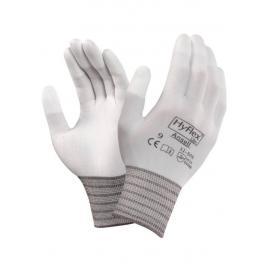Ansell's HyFlex® Lite, vit monterings-handske, PU på fingertopparna.