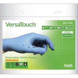 Ansell's Versa Touch, puderfri nitril, engångshandske, blå, 24,0 cm.