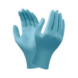 Ansell's TouchNTuff. Puderfri, blå engångshandske av nitril, 24,0 cm. lång.