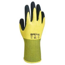 D-S' Hi-Viz industri-handske för lätta uppgifter, utmärkt grepp. Stickad mudd.