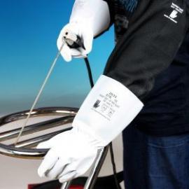 D-S's Argon svets-handske 13-2035 av getskinn med spalt-krage.