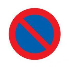 Parkering är förbjuden, Ø 70 cm, en ensidig, trafikmärke