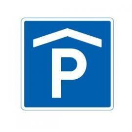 Parkering inomhus, 50 x 50 cm, en ensidig, trafikmärke