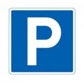 Parkering, 50 x 50 cm, en ensidig, trafikmärke