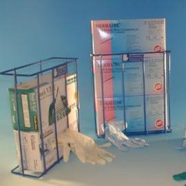 Handsk-stativ för engångs-handskar i dispenser-ask