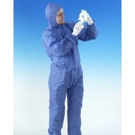 Skydds-overall, typ 5 och 6, blå, flamhämmande.