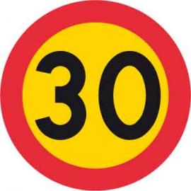 Vägmarkering - Hastighetsbegränsning (30 eller 40km/h)