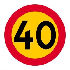C31-4 Hastighetsbegränsning (40km/h)