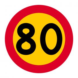C31-8 Hastighetsbegränsning (80km/h)