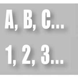 PREMARK® - Bokstäver/Siffror (Olika storlekar)