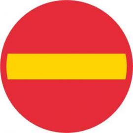 Förbudsskylt, Förbud mot trafik med fordon, Ø 600 mm