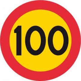 Förbudsskylt, Max hastighet 100 km/h, Ø 600 mm