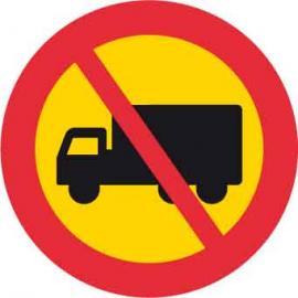 Förbudsskylt, Förbud mot lastbil, Ø 600 mm