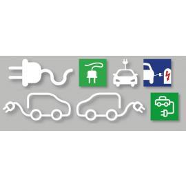 PREMARK® - Symboler till El-bilar (Olika modeller)